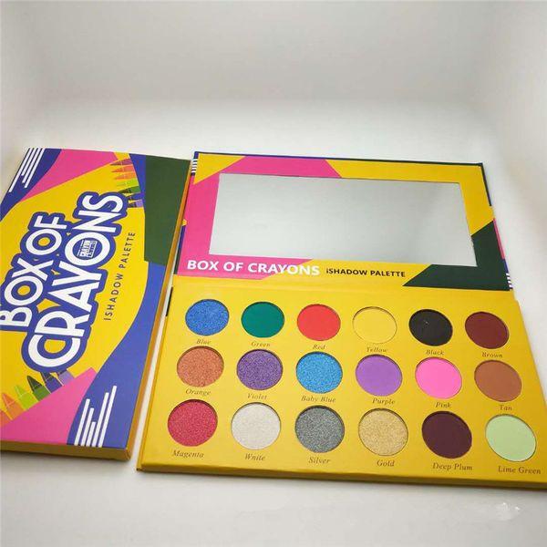 Box of crayon eye hadow palette 18 color makeup himmer pigmented matte make up eye hadow i hadow palette ca e