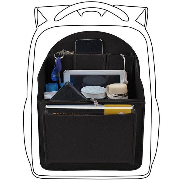 felt travel bag insert backpack organizer, purse organizer for men,women backpack for mummy shoulder tote bags handbag organizer (427180101) photo