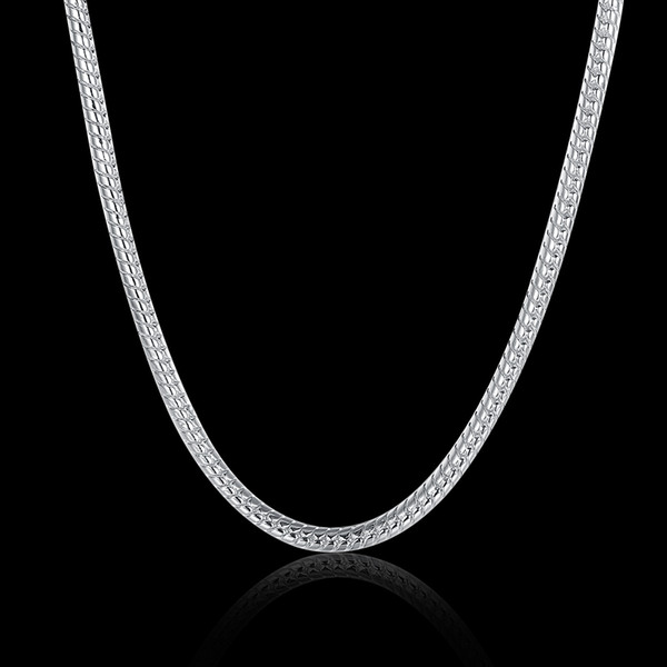 100% Stainless Steel Necklace Round Snake Chain Fit Pandora Fashion Jewelry Factory Price Links Chain 2 mm 18-28 Inches