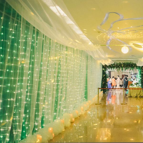 10 м х 4 м 1280 светодиодные огни сосульки рождественские огни рождественские сказоч фото