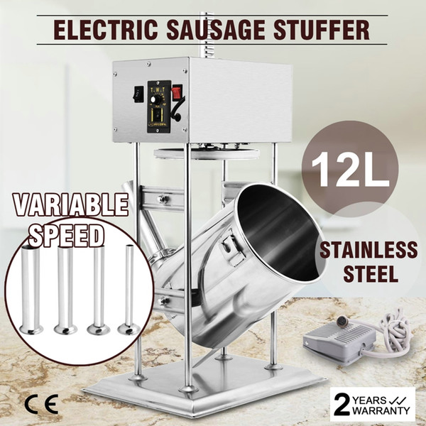 12l 28lb  commercial electric vertical  au age filler  tuffer meat maker  tainle    teel meat filling machine