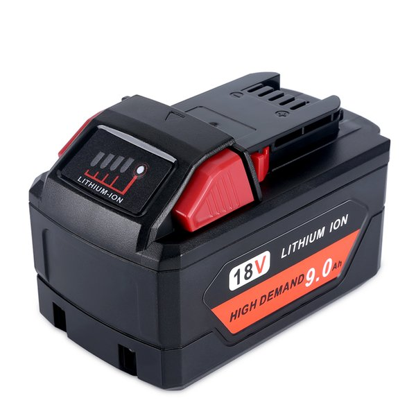 9000mah 18v red lithium battery 48 11 1890 replacement for 18v milwaukee m18 battery 9 0ah high demand 5x heavy application battery