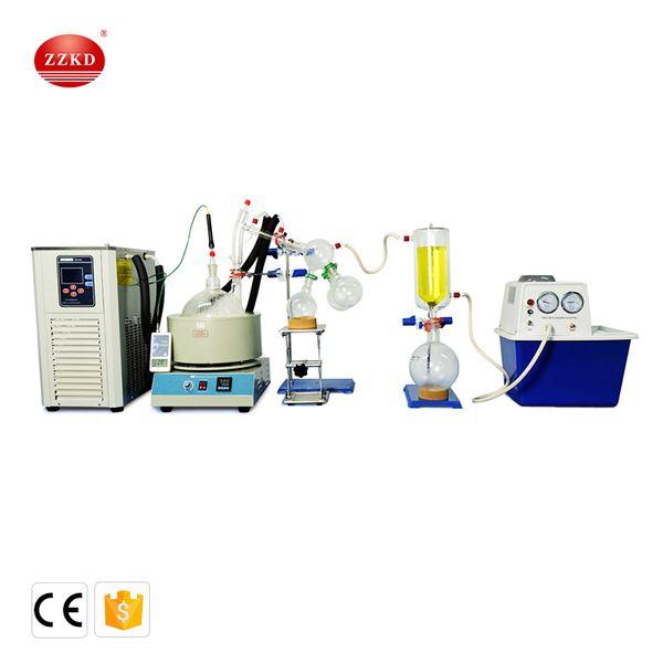 Lab  cale  mall  hort path di tillation equipment 2l  hort path di tillation contain  cryogenic and vacuum pump