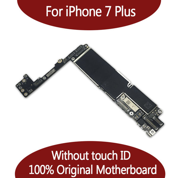 For iphone 7 plu  128g motherboard without touch id   nofingerprint original unlocked logic board by  hipping