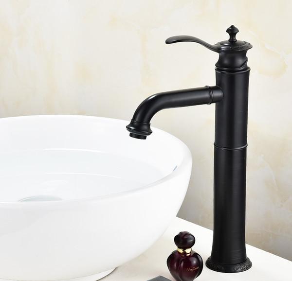 Кран бассейна кран воды шар ванной раковина смеситель кран одной ручкой ванная комната тщеславие горячей и холодной воды высокий черный смесители фото