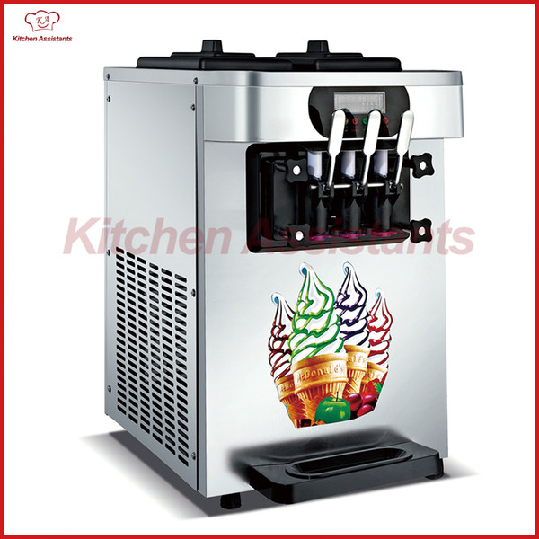 Xq18x electric counter commerical ice cream making machine oft ice cream maker