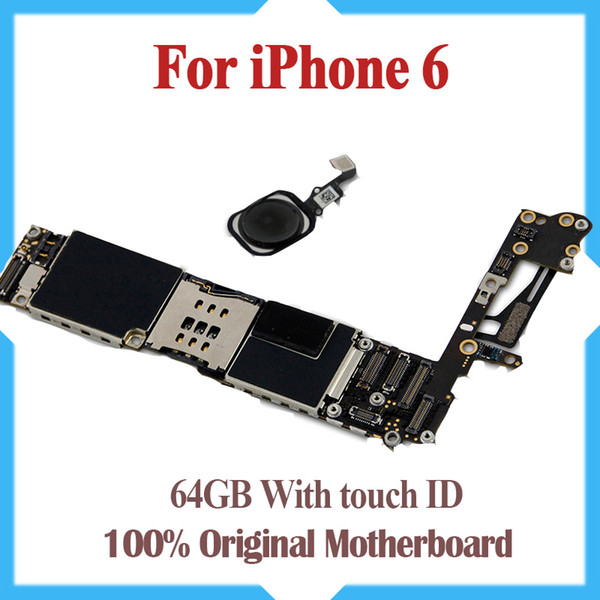 64gb original unlocked for iphone 6 motherboard with touch id fingerprint function for iphone 6 logic board