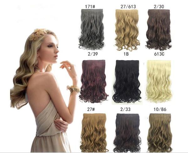 кусок волос супер длинные пять клип в наращивание волос синтетические волосы вью
