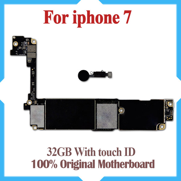 100  good te ted motherboard for iphone 7 4 7inch 32gb original factory unlocked mainboard with touch id io  update  upport