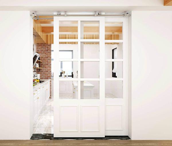 Ceiling mount bracket bru hed tainle teel wood liding ingle door hardware bi parting door bypa barn door hardware track kit