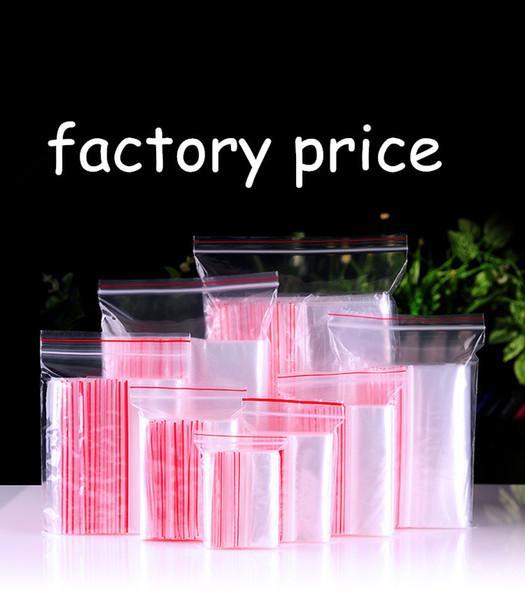 200 шт. Небольшой Zip Lock пластиковые мешки Reclosable прозрачный ювелирные изделия / сумка для хранения продуктов питания кухня пакет мешок ясно Ziplock мешок груза падения пользовательские