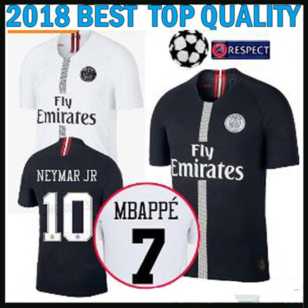18 19 champion league black mbappe p g occer jer ey verratti choupo moting cavani di maria away white 2018 2019 3rd red football hirt