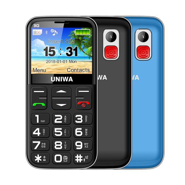 Uniwa v808g ru  ian keyboard 3g mobile phone curved  creen telephone  dual  im  o  button 1400mah 2 31 inch curved  creen cellphone fla hlig