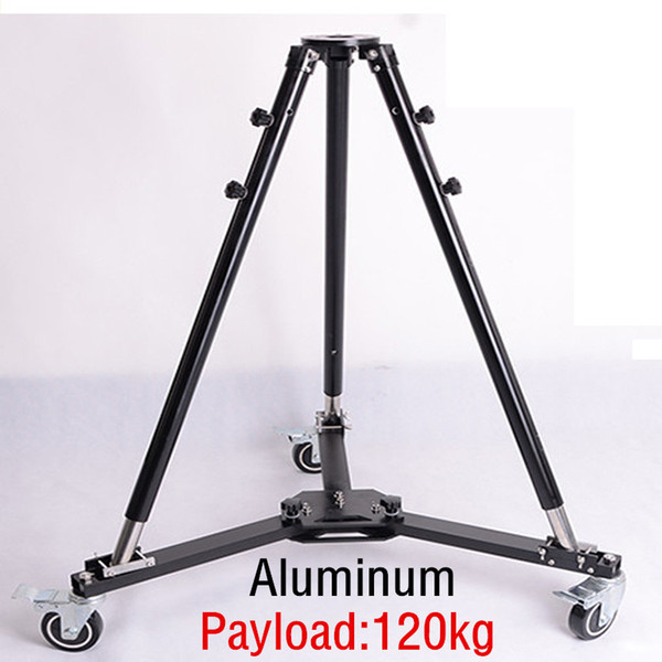 Inlpie 120kg payload profe ional heavy duty folding wheel univer al video tripod dolly lider track for camera crane jib arm