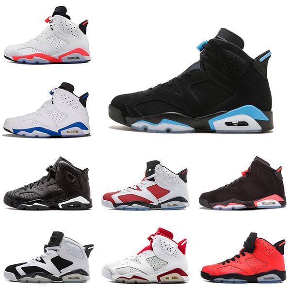 Nike air jordan 6 6s Новый 6 S мужская баскетбольная обувь UNC Кармин сердитый бык Спорт сини фото
