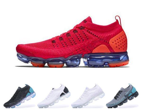 2018 2019 Chaussures Moc 2 Laceless 2.0 кроссовки тройной черный дизайнер мужские женские кроссовки летать белый вязать воздушной подушке тренеры Zapatos