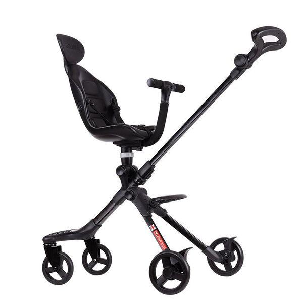 UK DELAMA Baby Stroller High Landscape Portable Lightweight Baby Strollers Foldable Pram Pushchairs Kinderwagen