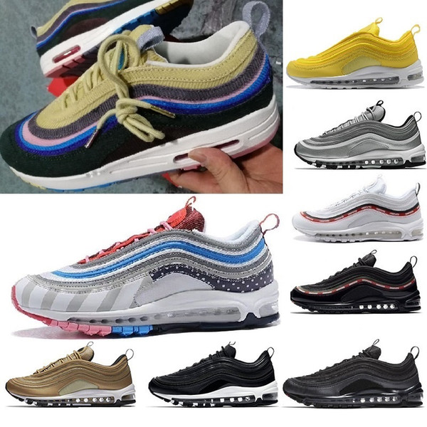 2019 new arrival with box 97 men  women  running  hoe  cu hion  ilver gold  neaker  athletic de igner   port  outdoor  hoe  air  z5 5 11