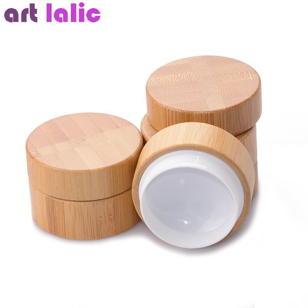 5g 10g high qualtiy bamboo bottle cream jar nail art ma k cream refillable empty co metic makeup container bottle