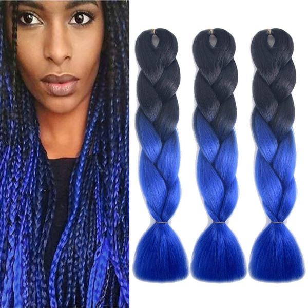 Xpression Ombre плетение волос Kanekalon синтетические Джамбо крючком косы твист 24 дюймов 100