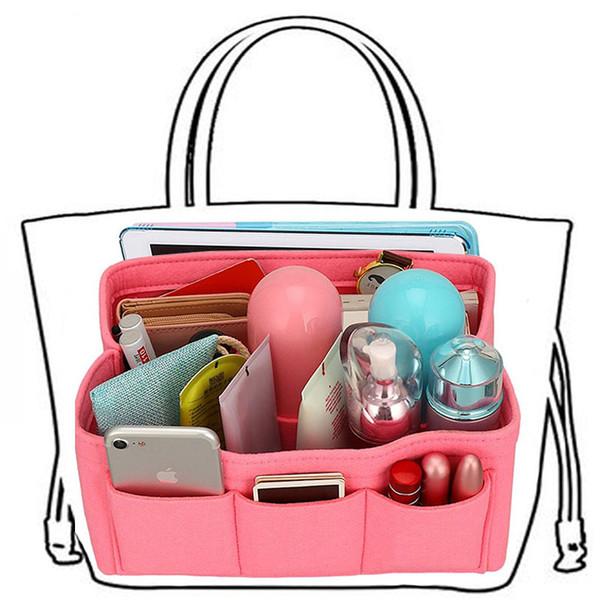 felt storage bag,insert purse organizer for tote&handbag shaper makeup storage organizer,women cosmetic organizer for travel (414098127) photo