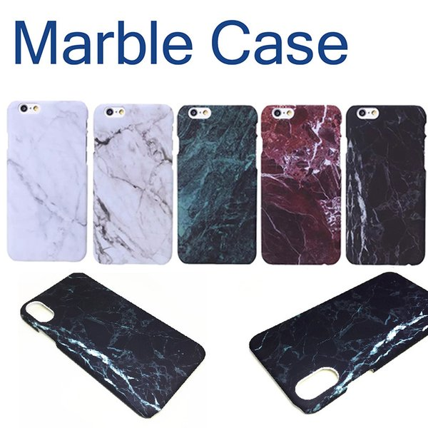 Hard pc marble  kin back cover ca e protector phone pla tic ca e  for iphone 6 6  7 8 x plu   hipping