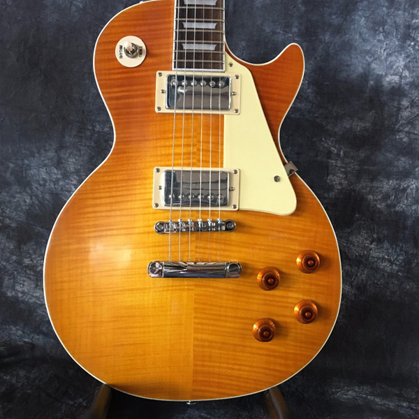 2018 factory direct cla ic 1959 r9 yellow bur t china guitar tyle tandard electric guitar with guitar guitarra