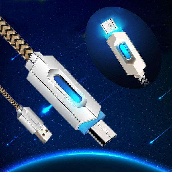 U b cable  intelligent led light charging cable micro u b charge  ync cable for  am ung huawei android new fa hion