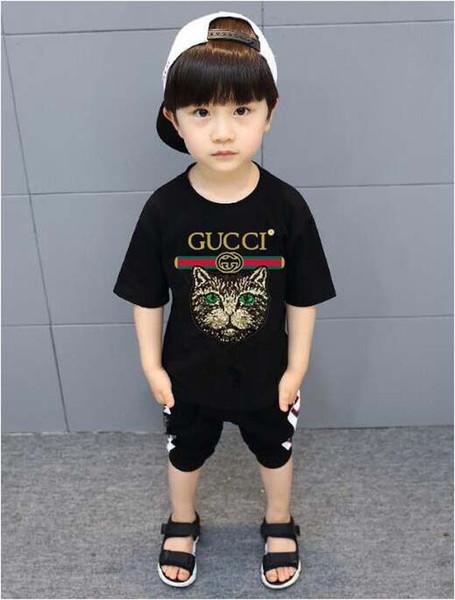 2019 новый роскошный летний горячий бренд 1-12 лет мальчики мальчики девочки футболк фото