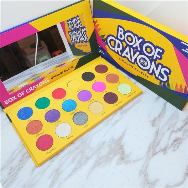 New makeup eye hadow palette box of crayon i hadow palette co metic 18 color himmer beauty matte eye hadow the crayon ca e