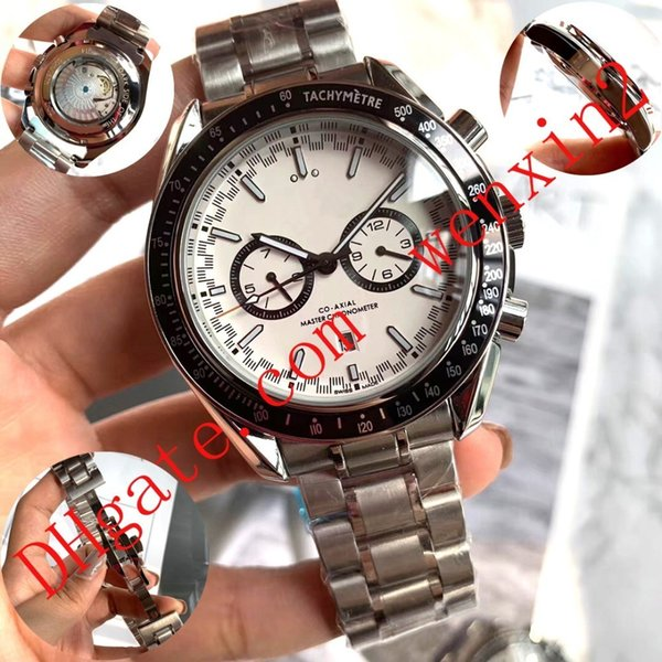 15 Colors.Luxury Watch.racing driver 44mm Automatic Date 8500 Movement Automatic Mens Watch Stainless Steel .Calf Leather Band Wristwatches