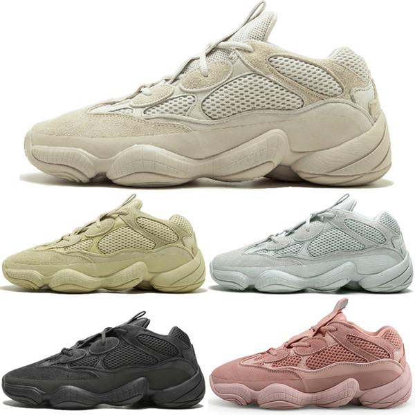 Kanye West 500 Desert Rat Blush 500s Соль Super Moon Yellow Utility Черные мужские кроссовки для мужчин, женщин спортивные кроссовки кроссовки Eur 36-45