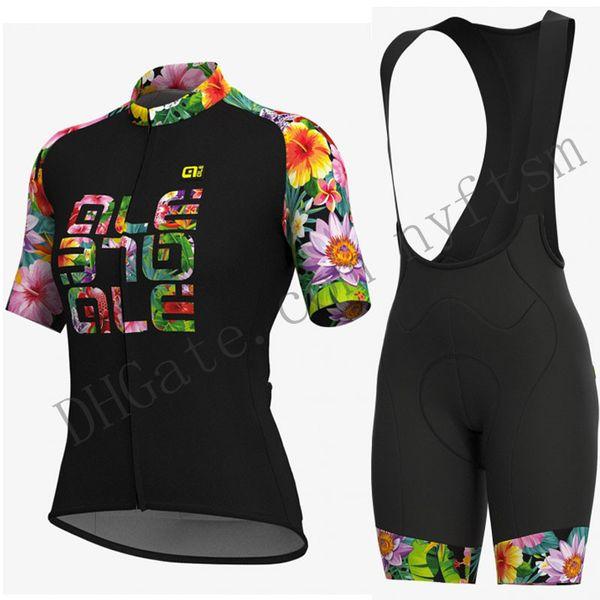 Tour de France pro team ALE 2019 Summer Women Short Sleeve Cycling jersey Set Mountain Bike Wear Shirt Quick dry Bicycle Cycling Clothing