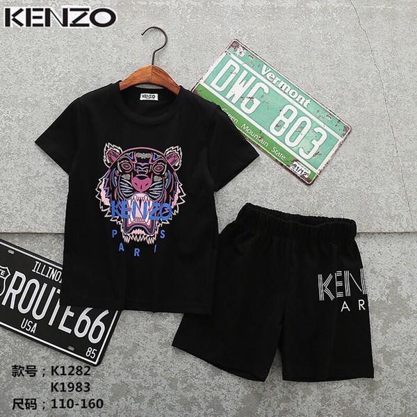 Новые детские комплекты 2-8Т детские футболки и шорты 2шт / комплекты 9 цветов детск