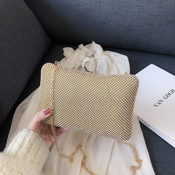 fashion women evening party wallet handbag diamonds elegant purses luxury crystal clutches bridal wedding party purses bag 2019 (494172585) photo