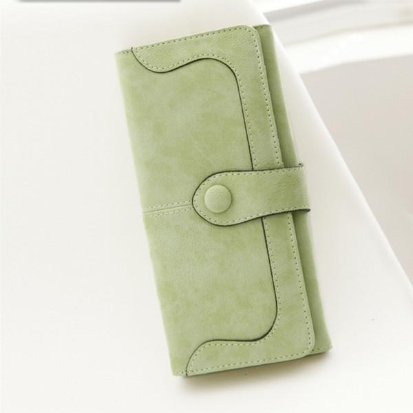fashion matte stitching pu leather wallet retro long purse clutch casual women wallets handbag ka-best (466237559) photo