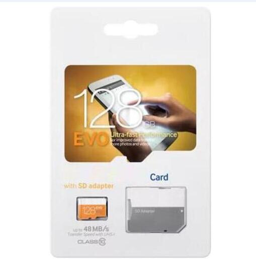 2019 grade a quality 32gb 64gb 128gb 256gb memory card cla 10 tf d orange evo bli ter retail package low value declared
