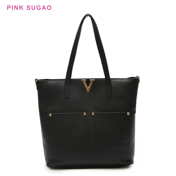 pink sugao 2pcs bags set women leather shoulder bag luxury handbags women bags designer purses and handbags purses (519019658) photo