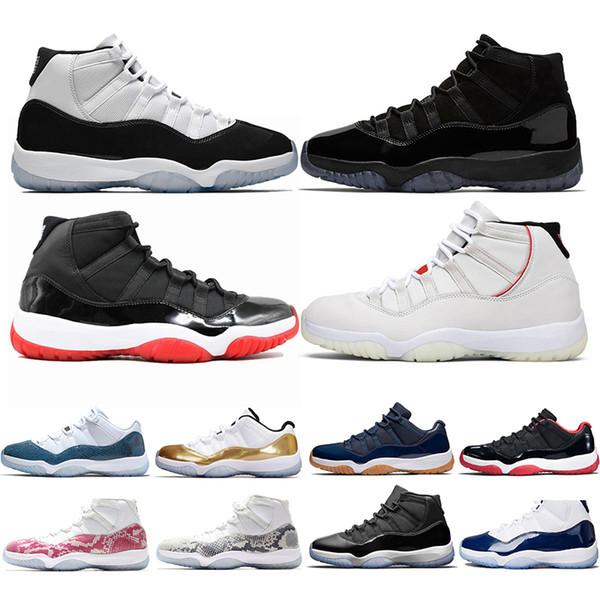 Nike Air Jordan 11 Retro Мужчины Женщины Баскетбольные кроссовки 11 Bred Navy Concord 45 Кепка и плать фото