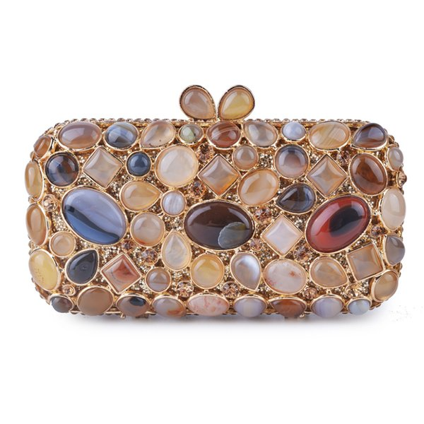 big rhinestone women party bags fashion metal crystal evening clutch bags ladies dinner banquet evening clutches handbags purses (459749968) photo