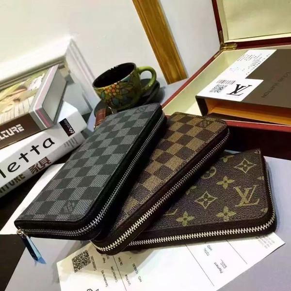 fashion women long designers wallets famous pu leather wallet single zipper cross pattern clutch girl purse 0022 (509195548) photo