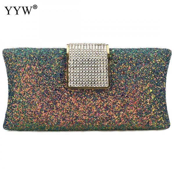 woman evening bag 2019 sequin female diamond rhinestone day clutch crystal chain shoulder purse wedding purse party luxury bags (454551949) photo