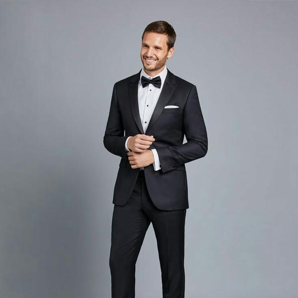 Формальные мужские костюмы для свадебных костюмов черный человек пиджак выпускного вечера жениха свадебные смокинги терносы Slim Fit костюм Homme Trajes de Hombre 2шт фото