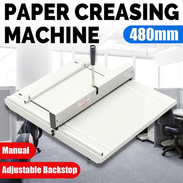 new 480mm manual folding machine a3 paper creaser scorer perforator paper cutter perforating machine creasing hand tools (482838360) photo