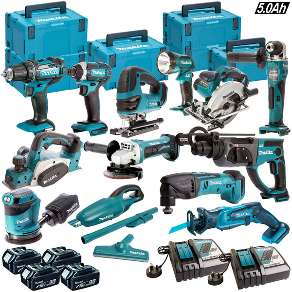 Makita 18v lxt cordle   13pc  mon ter kit with 4 x 5 0ah batterie  charger ca e