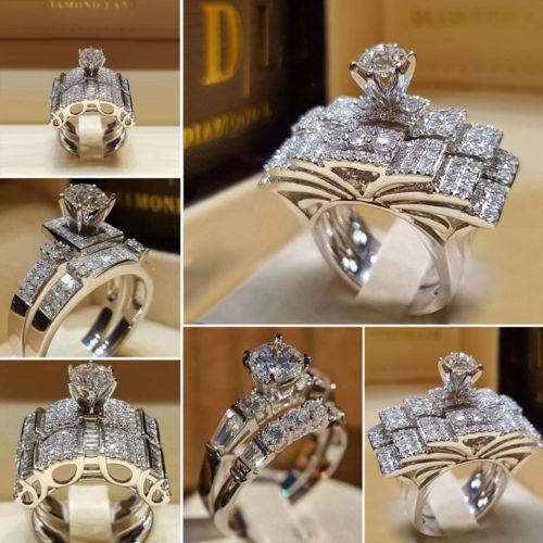 2019 мода Серебряный горный хрусталь кольца женщины сплава Кристалл группа кольцо серебряное обручальное кольцо Кольцо Sz5-11 США фото