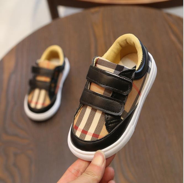 1-6 Ages Children Plaid Canvas Shoes Child Spring Autumn Kids Fashion Sneakers Boys Girls Baby Casual Plaid Shoes Infant Baby Soft Shoe