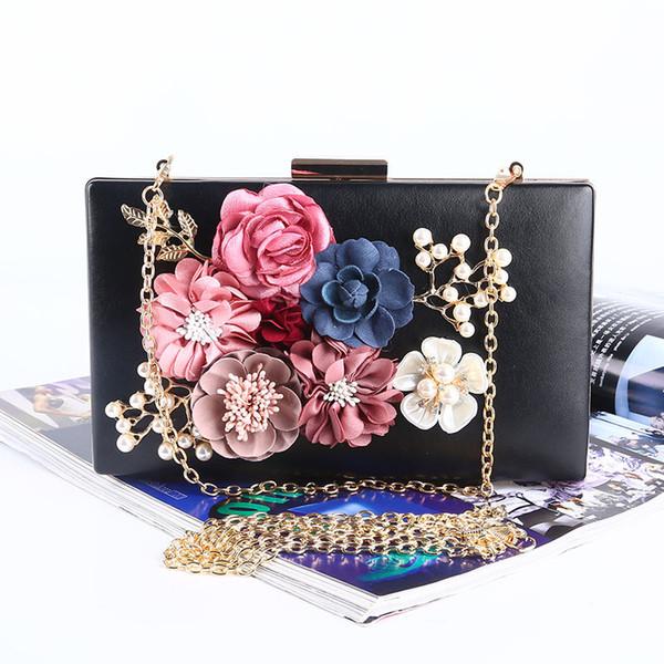 women flower clutches evening bags handbags wedding clutch purse (473516398) photo