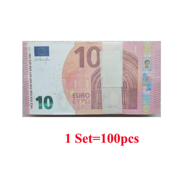 Fake paper play money toy 10 euro funny joke toy gift for kid movie film prop tudio acce orie 20 50 100 euro