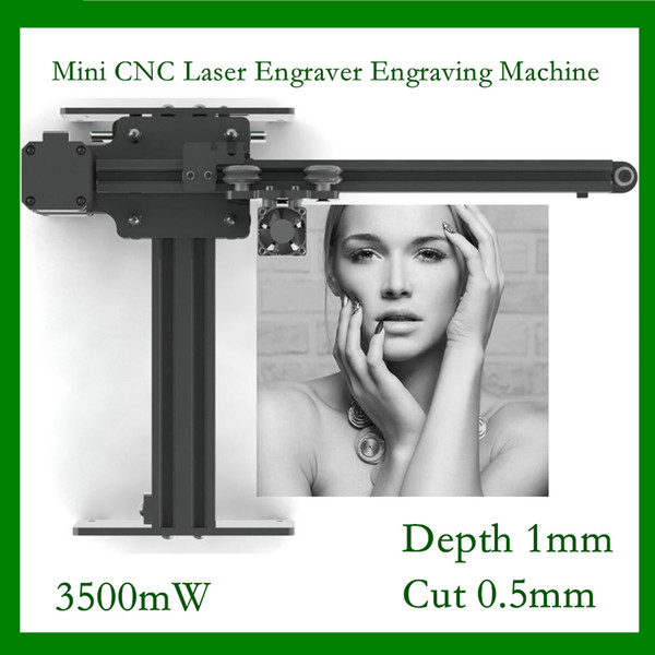 3500mw high speed mini cnc laser engraver engraving machine for metal /wood router/paper cutter/deskcutter (487224354) photo